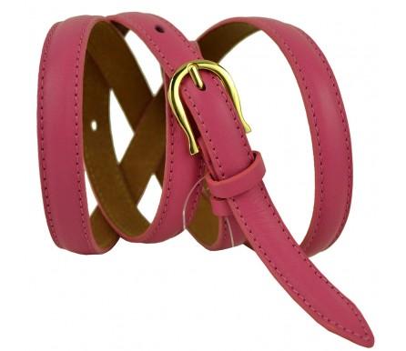 """Женский кожаный ремень для платья узкий 15мм """"Сан-Антонио"""", розовый (арт. 103388) Millennium"""