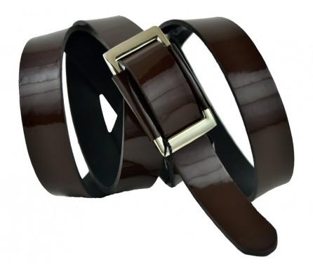 """Женский кожаный ремень для платья узкий 20мм """"Манчестер"""", коричневый (арт. 103375) Elpaso"""