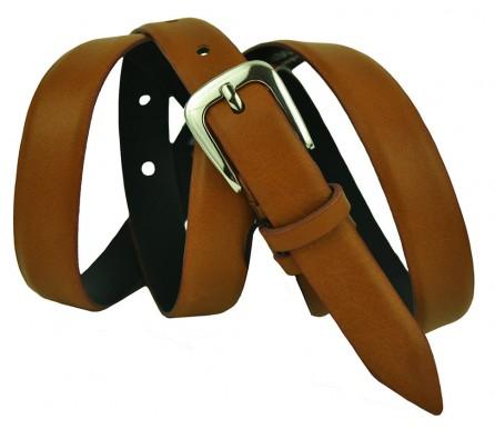 """Женский кожаный ремень для платья узкий 20мм """"Турин"""", коричневый (арт. 103324) Elpaso"""