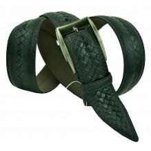 """Мужской классический кожаный ремень для брюк """"Волгодонск"""", черный (арт. 102495)"""