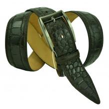 """Мужской классический кожаный ремень для брюк """"Волгоград"""", темно-коричневый (арт. 102494)"""
