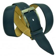 """Мужской классический кожаный ремень для брюк """"Владивосток"""", темно-синий (арт. 102491)"""