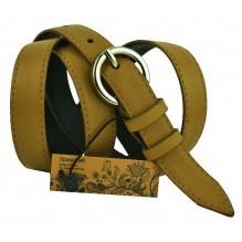 """Женский кожаный ремень для платья узкий 20мм """"Стамбул"""", коричневый (арт. 103283)"""