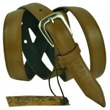 """Женский кожаный ремень для платья узкий 20мм """"Таганрог"""", коричневый (арт. 103256)"""