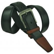 """Мужской классический кожаный ремень для брюк """"Милуоки"""", черный (арт. 102449)"""