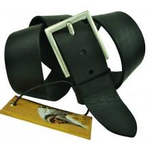 """Широкий мужской кожаный ремень для джинс 45мм """"Индианаполис"""", черный (арт. 102430)"""