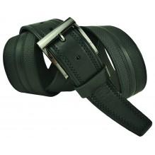 """Широкий мужской кожаный ремень для джинс большого размера """"Даллас"""", черный (арт. 102427)"""