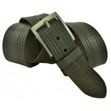 """Широкий мужской кожаный ремень для джинс 45мм """"Вена"""", темно-коричневый (арт. 102331)"""