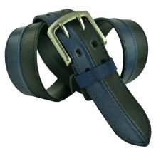 """Широкий мужской кожаный ремень для джинс 45мм """"Южно-Сахалинск"""", темно-синий (арт. 102317)"""