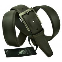 """Мужской классический кожаный ремень для брюк """"Рубцовск"""", темно-коричневый (арт. 102271)"""