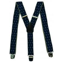 """Подтяжки мужские для костюма с шелкографией """"Кёльн"""", цвет темно-синий (арт. 102992)"""