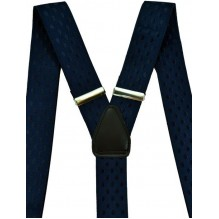 """Подтяжки мужские для костюма с шелкографией """"Бирмингем"""", цвет темно-синий (арт. 102990)"""