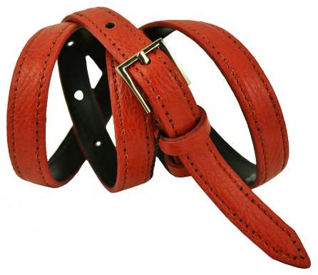 """Женский кожаный ремень для платья узкий 15мм """"Колорадо-Спрингс"""", оранжевый (арт. 103101) Elpaso"""