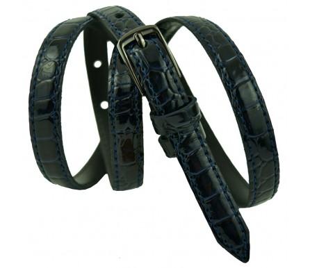 """Женский кожаный ремень для платья узкий 15мм """"Вашингтон"""", черный (арт. 103083) Elpaso"""