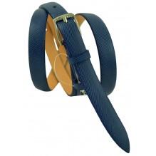 """Женский кожаный ремень для платья узкий 15мм """"Джэксонвилл"""", синий (арт. 103073)"""