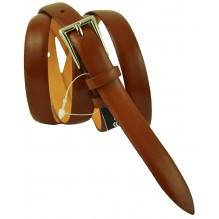 """Женский кожаный ремень для платья узкий 15мм """"Индианаполис"""", коричневый (арт. 103072)"""