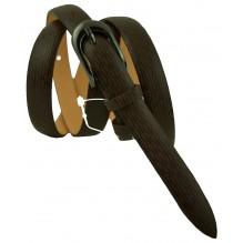 """Женский кожаный ремень для платья узкий 15мм """"Финикс"""", темно-коричневый (арт. 103066)"""