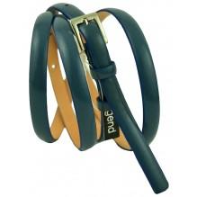 """Женский кожаный ремень для платья узкий 10мм """"Гаага"""", бирюзовый (арт. 103060)"""