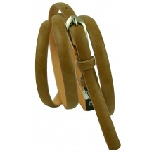 """Женский кожаный ремень для платья узкий 10мм """"Лейпциг"""", коричневый (арт. 103052)"""