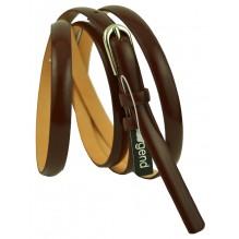 """Женский кожаный ремень для платья узкий 10мм """"Пенза"""", темно-коричневый (арт. 103050)"""
