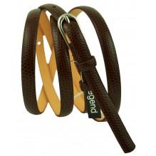 """Женский кожаный ремень для платья узкий 10мм """"Дублин"""", темно-коричневый (арт. 103049)"""