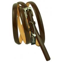 """Женский кожаный ремень для платья узкий 10мм """"Рязань"""", темно-коричневый (арт. 103046)"""