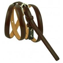 """Женский кожаный ремень для платья узкий 10мм """"Бремен"""", темно-коричневый (арт. 103044)"""