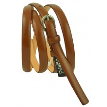 """Женский кожаный ремень для платья узкий 10мм """"Шеффилд"""", коричневый (арт. 103042)"""
