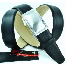 Мужской ремень для брюк с полуавтоматической пряжкой (зажим) (арт. 100376)