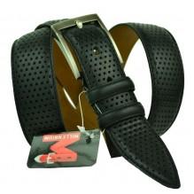 Мужской классический ремень для брюк с перфорацией (арт. 100566)