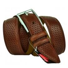 Мужской классический ремень для брюк с перфорацией (арт. 100564)