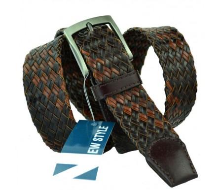 Мужской плетеный ремень (арт. 100592) New Style
