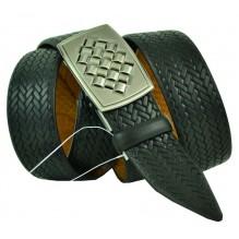 Мужской ремень для брюк с полуавтоматической пряжкой (зажим) (арт. 102149)