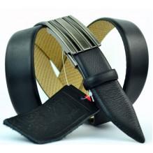 Мужской ремень для брюк с полуавтоматической пряжкой (зажим) (арт. 100370)