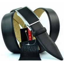 Мужской ремень для брюк с полуавтоматической пряжкой (зажим) (арт. 100372)