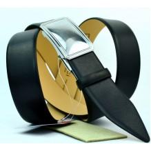 Мужской ремень для брюк с полуавтоматической пряжкой (зажим) (арт. 100373)