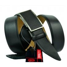 Мужской ремень для брюк с полуавтоматической пряжкой (зажим) (арт. 100364)
