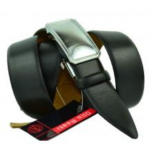 Мужской ремень для брюк с полуавтоматической пряжкой (зажим) (арт. 100366)
