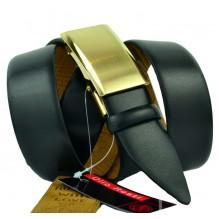 Мужской ремень для брюк с полуавтоматической пряжкой (зажим) (арт. 100367)