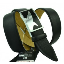 Мужской ремень для брюк с полуавтоматической пряжкой (зажим) (арт. 100368)