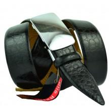 Мужской ремень для брюк с полуавтоматической пряжкой (зажим) (арт. 100365)