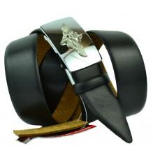 Мужской ремень для брюк с полуавтоматической пряжкой (зажим) (арт. 100369)
