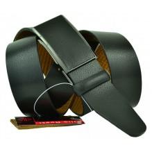 Мужской ремень для брюк с полуавтоматической пряжкой (зажим) (арт. 102152)