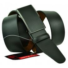 Мужской ремень для брюк с полуавтоматической пряжкой (зажим) (арт. 102156)