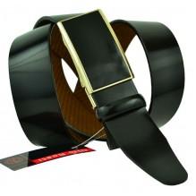 Мужской ремень для брюк с полуавтоматической пряжкой (зажим) (арт. 102159)