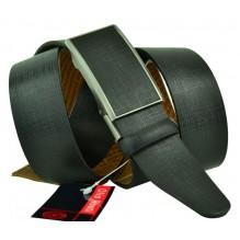 Мужской ремень для брюк с полуавтоматической пряжкой (зажим) (арт. 102160)