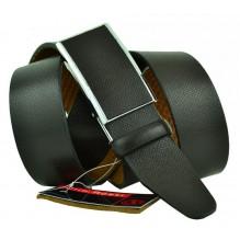 Мужской ремень для брюк с полуавтоматической пряжкой (зажим) (арт. 102165)