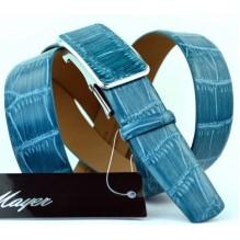 Мужской ремень для брюк с полуавтоматической пряжкой (зажим) (арт. 100382)