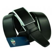 Мужской ремень для брюк с полуавтоматической пряжкой (зажим) (арт. 100453)