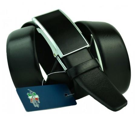 Мужской ремень для брюк с полуавтоматической пряжкой (зажим) (арт. 100453) Roberto Napoli